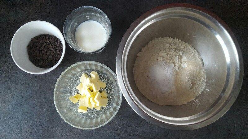 Recette scones anglais bio aux pépites de chocolat ingrédients