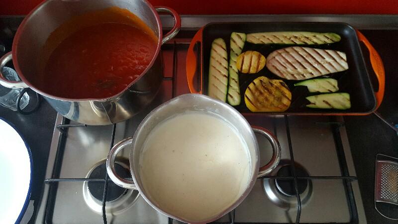 Recette lasagnes végétariennes aux légumes 3 préparations