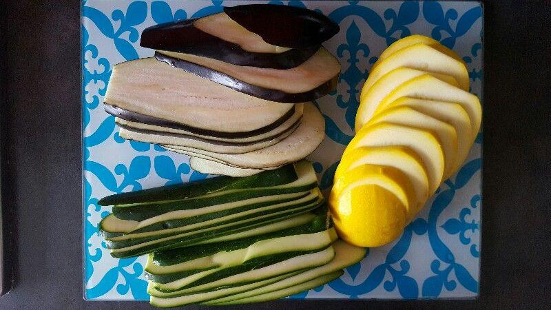 Recette de lasagnes vegetariennes aux legumes grilles coupez les legumes