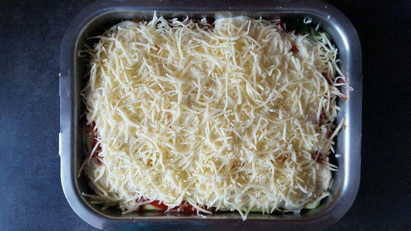Recette lasagnes végétariennes aux légumes couvez de fromage rapé