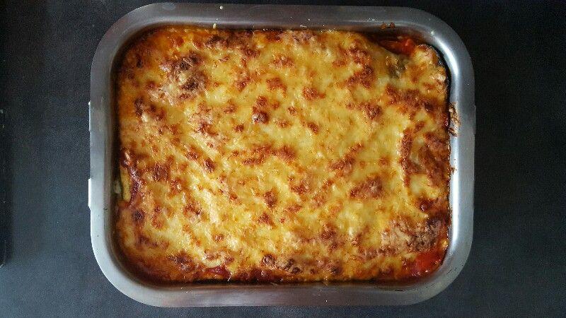 Recette lasagnes végétariennes aux légumes saupoudrez de fromage rapé